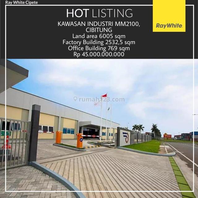 Dijual Gedung di Kawasan Industri MM2100, Cibitung, Cibitung, Bekasi