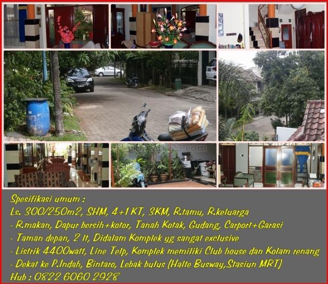 Rumah Dalam komplek Nyaman dekat Giant Rempoa dan Salon anita Ciputat Tangsel, Rempoa, Tangerang