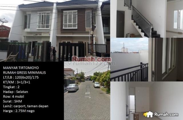Rumah Gress Minimalis Manyar Tirtomoyo Surabaya