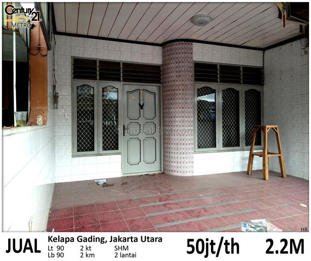 Rumah 2 Lantai Gading Molek Kelapa Gading Jakarta Utara