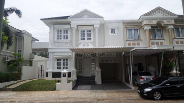 Rumah cluster desain mediteranean, dekat Taman Kota, BSD Taman Giri Loka, Tangerang