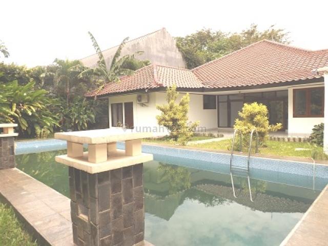 HOUSE 450M2/800M2, 4 BR, S POOL,  3.500 USD/MNTH, @ KEMANG DALAM JAKARTA SELATAN, Kemang, Jakarta Selatan