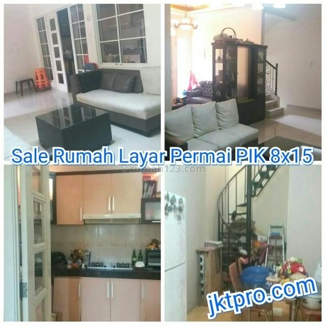 Rumah Layar Permai PIK 8x15 Semifurnish, Pantai Indah Kapuk, Jakarta Utara