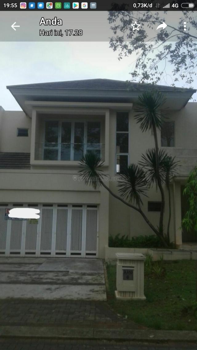 rumah dlm cluster elite de park cajuputih depan taman, BSD De Park, Tangerang