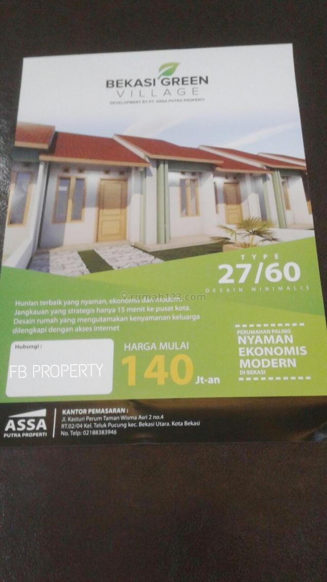 Rumah Baru Minimalis dan Strategis di Telukpucung Bekasi Utara (ZL0525), Telukpucung, Bekasi