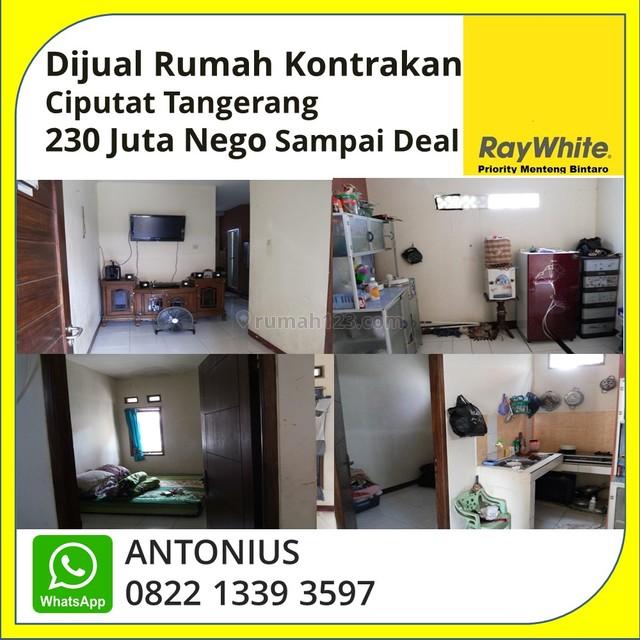 DIJUAL MURAH RUMAH KONTRAKAN DI CIPUTAT TANGERANG 230 JUTA NEGO SAMPAI DEAL, Ciputat, Tangerang