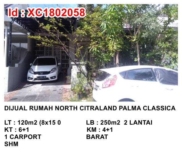 Rumah North Citraland Palma Classica H, Citraland, Surabaya