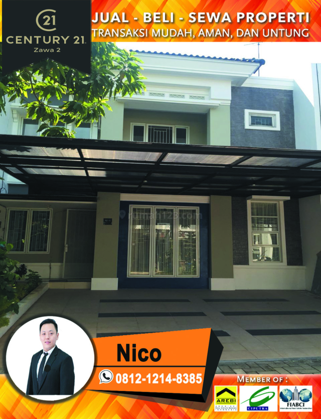 Rumah Cluster Michelia Gading Serpong LB119 LT120 KM3+1 KT 3+1 Harga 2M Semi Furnished, Gading Serpong Cluster Michelia, Tangerang