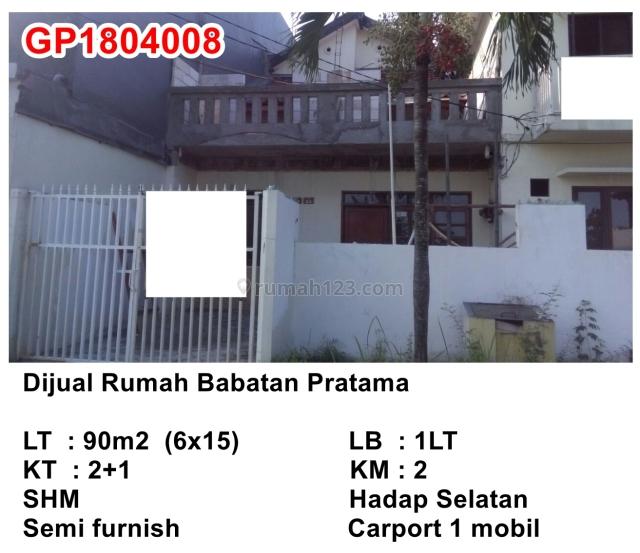 Rumah  Babatan Pratama, Citraland, Surabaya
