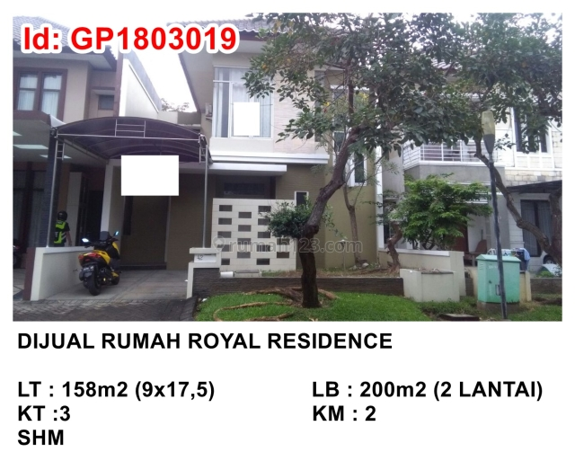RUMAH ROYAL RESIDENCE WINDSOR B5, Citraland, Surabaya