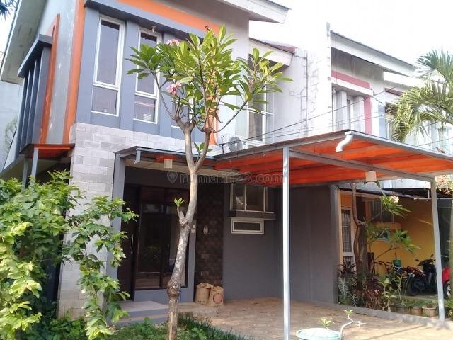 Rumah cantik minimalis 2 lantai dalam cluster di Cirendeu, Cireundeu, Tangerang