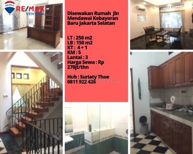 Rumah Rapi dan Siap Huni di Jln Mendawai Kebayoran Baru, Kebayoran Baru, Jakarta Selatan