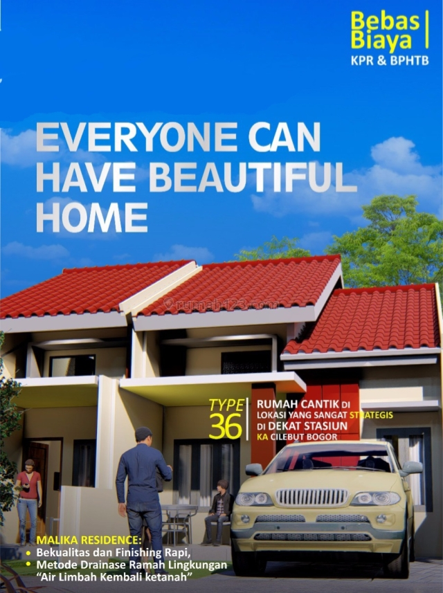Rumah dalam cluster 300 jt an dekat stasiun cilebut bogor, Cilebut, Bogor