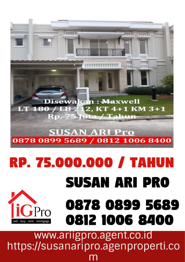 Rumah Bagus & Nyaman Cluster Maxwell Di Gading Serpong, Dekat Alam Sutera Dan BSD, Gading Serpong, Tangerang