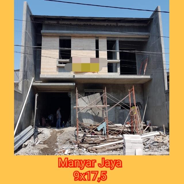 Rumah baru gress manyar jaya 2lantai  row jalan 2,5mobil, Sukolilo, Surabaya