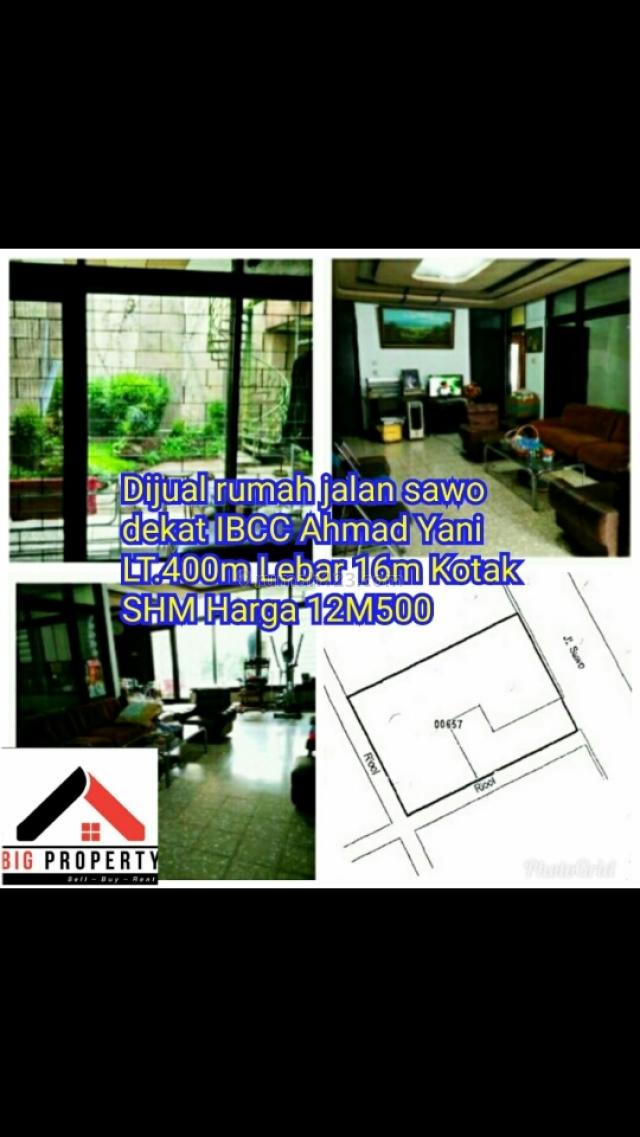 Rumah di Jl. Sawo Pusat Kota Bandung, Burangrang, Bandung