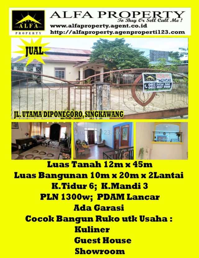 Rumah Pontianak, Kalimantan Barat, Singkawang Barat, Singkawang