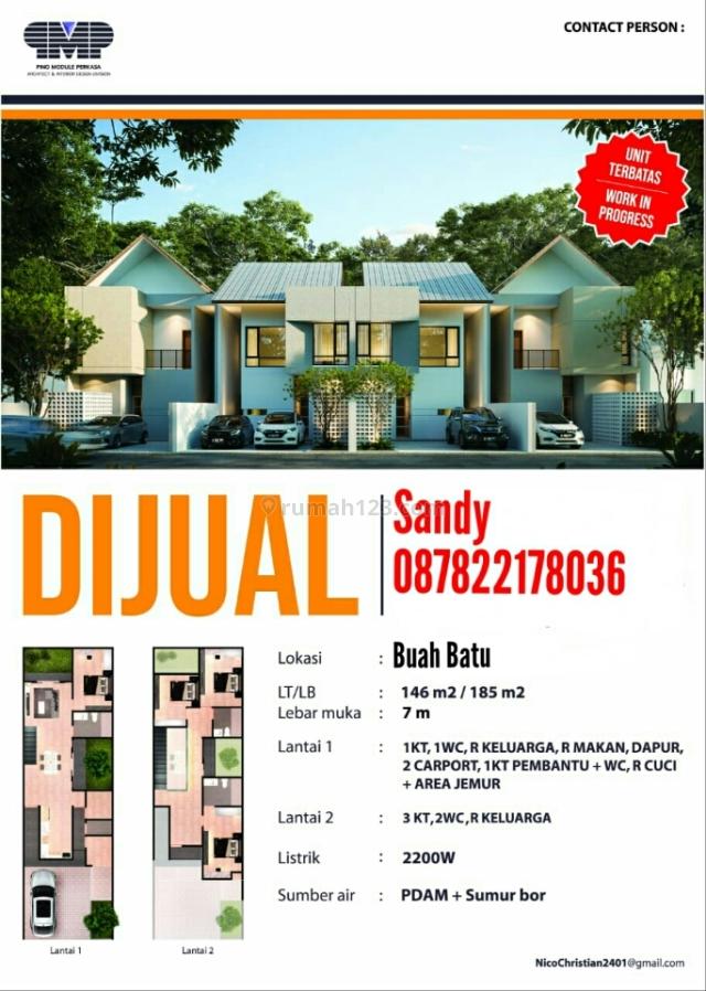 Dipasarkam Rumah Baru di Wilayah Buah Batu Bandung, Buah Batu, Bandung