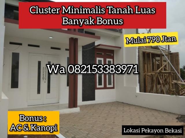 Rumah Minimalis Murah Bebas Banjir Banyak Bonus, Pekayon, Bekasi