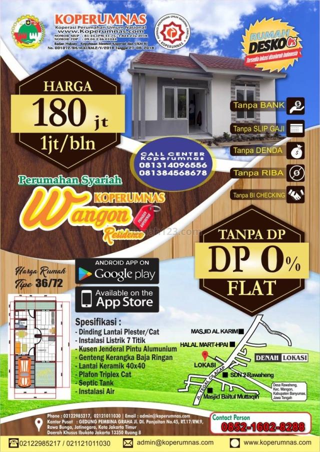 Wangon Residence, Rumah Desko 0%, Wangon, Banyumas