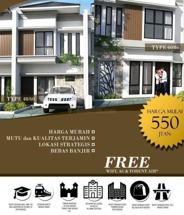 Rumah 2 Lantai Paling Murah Di Bekasi Kota, Bekasi Timur, Bekasi
