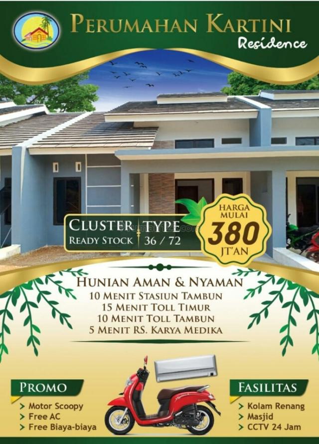 cluster tridaya lokasi premium dekat stasiun TambunFasilitas lengkap stock terbatas, Tambun Selatan, Bekasi