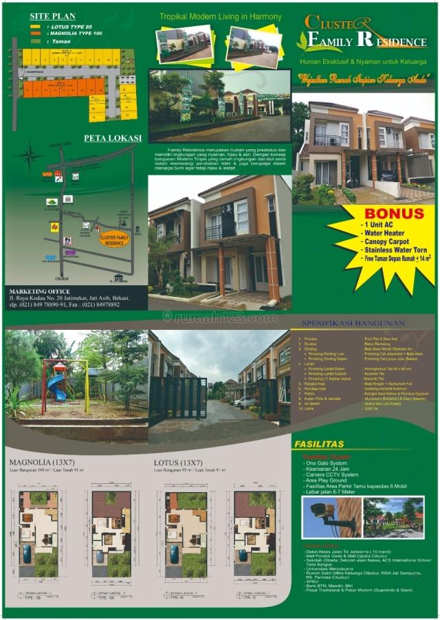 """Rumah Murah Cluster daerah Bekasi """"Family Residence"""", Pondokmelati, Bekasi"""