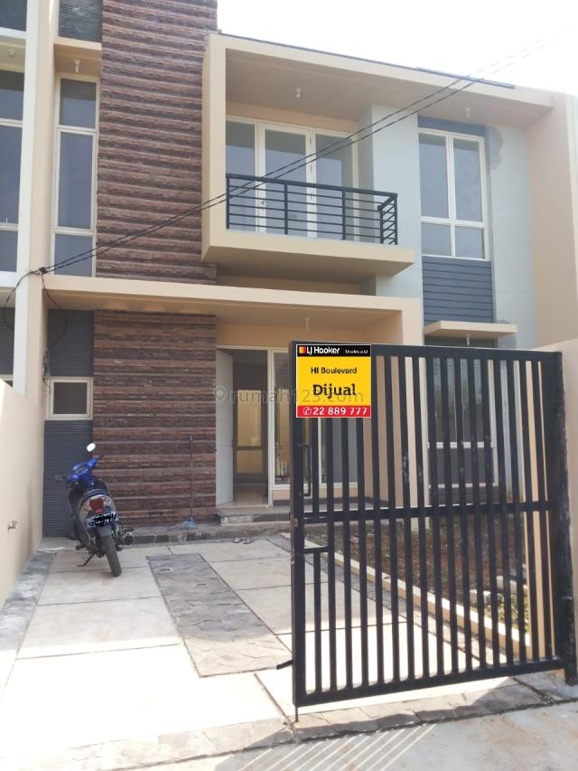 Rumah 2 lantai full renovasi di cluster ifolia harapan indah Bisa KPR, Medan Satria, Bekasi