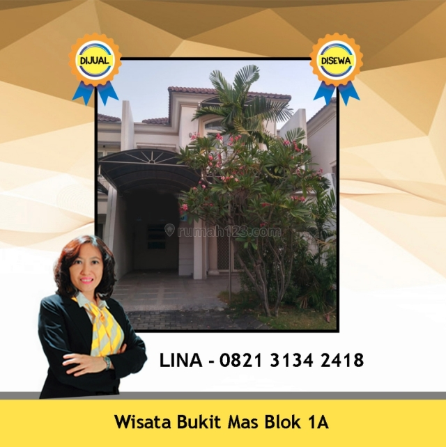 Rumah model Klasik empat kamar tidur di Wisata Bukit Mas, Wisata Bukit Mas, Surabaya