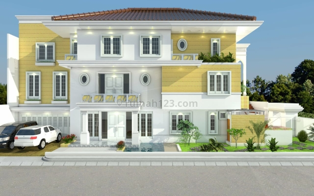 rumah brand new PIK posisi hook , big size ,design terima beres, Pantai Indah Kapuk, Jakarta Utara