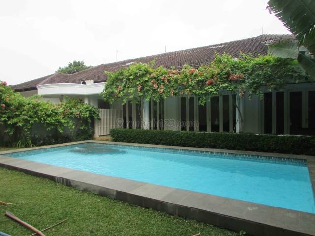 Huge House Semi Furnished with Garden and Pool at Kemang, Kemang, Jakarta Selatan