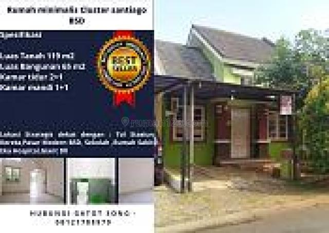 Rumah Cluster Santiago De Latinos BSD City Dekat Stasiun dan Akses Mudah, BSD City, Tangerang