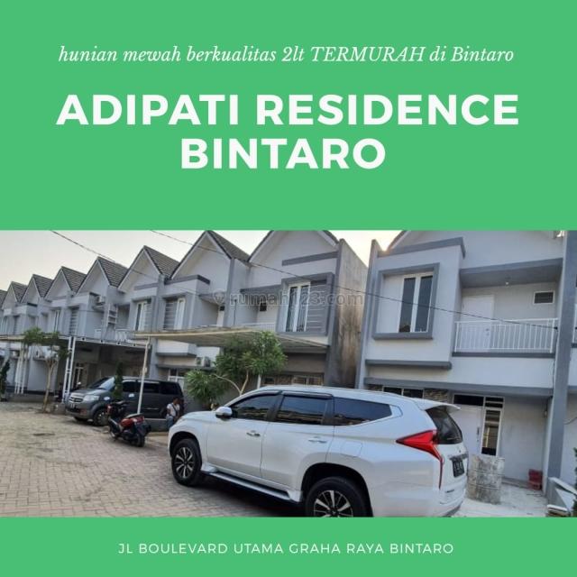 hunian trendy kawasan elit Cluster Adipati Residence Bintaro, BSD Telaga Golf, Tangerang
