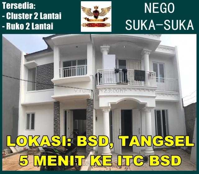 rumah cluster bsd baru dekat wtc bsd | tol bsd | cipadu | pondok aren, Cirarab, Tangerang