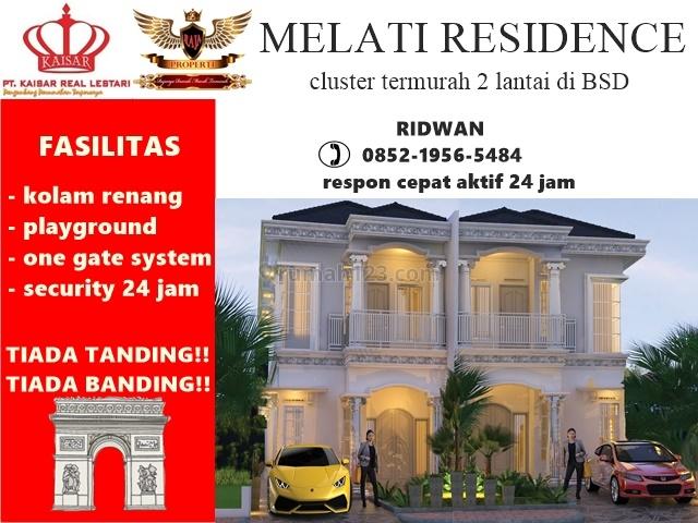 Rumah mewah 2 lantai aman termurah di Serpong, BSD Telaga Golf, Tangerang