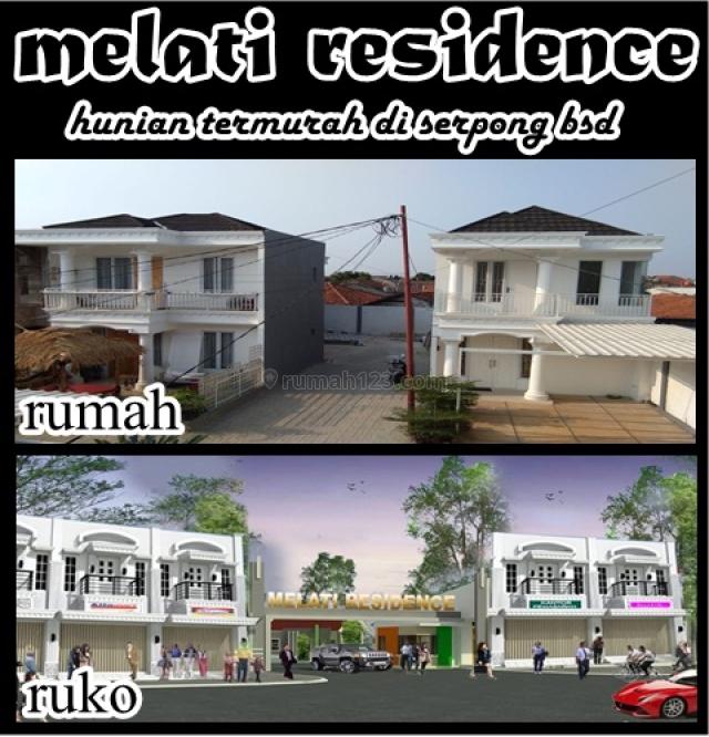 rumah classic melati termurah kawasan serpong, villa melati mas, BSD Bukit Golf, Tangerang