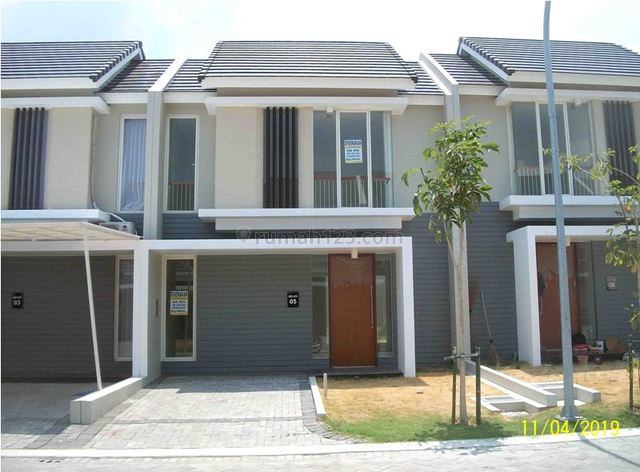 Sewa Rumah 2 Lantai, Baru Gress, Minimalis, Lingkungan Elite, Row Jalan depan Lebar + Paving, Siap Huni (Sewa Min 2 th), Citraland, Surabaya