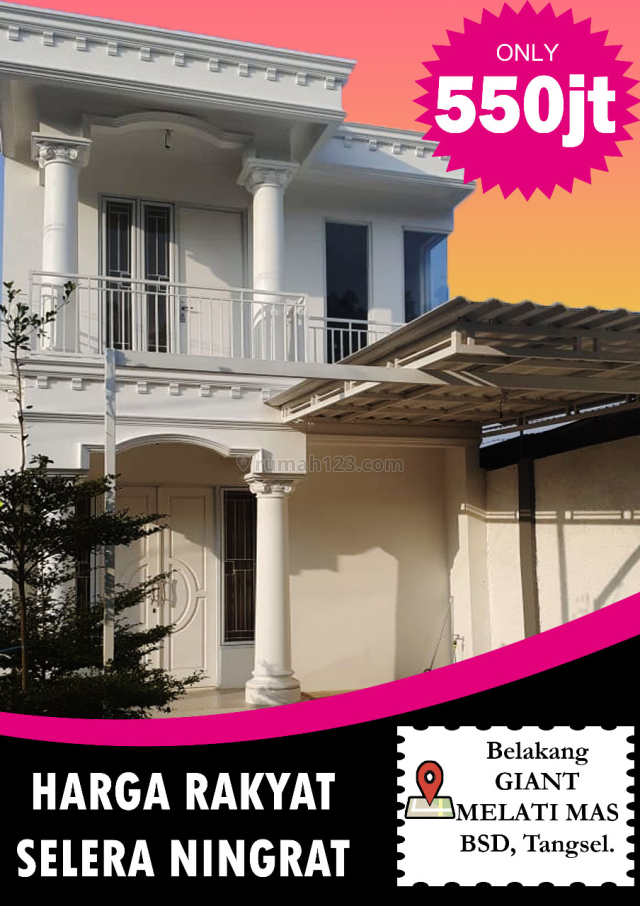 Rumah 2lt desain megah harga murah serpong,bsd, Jelupang, Tangerang