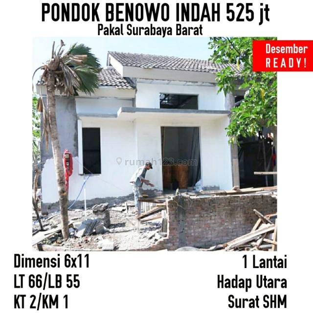 Rumah Baru BU Murah Pondok Benowo - Manukan - Pakal Surabaya Barat, Benowo, Surabaya