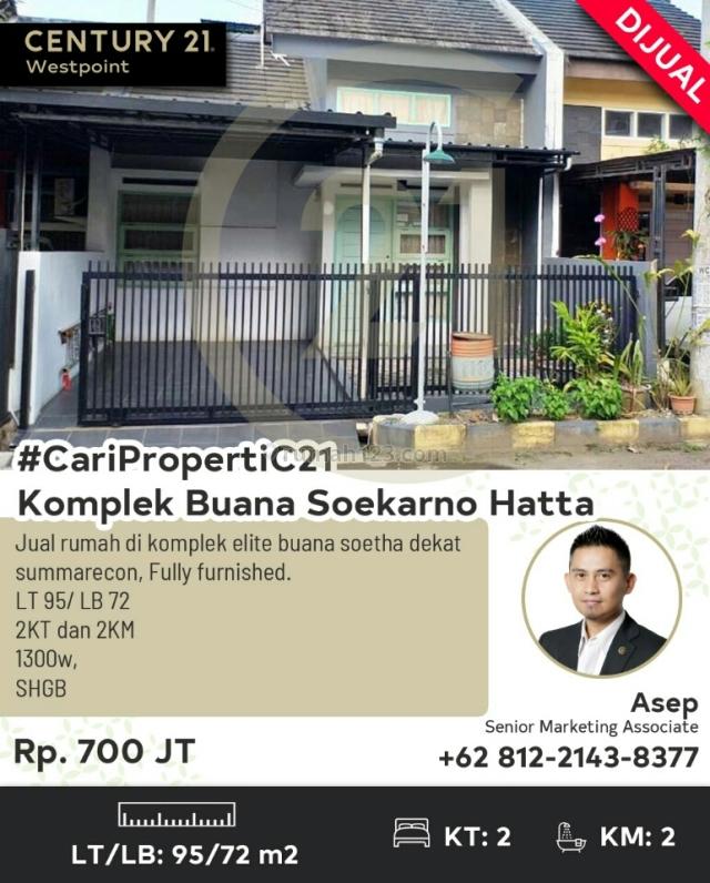 Rumah cantik asri dan minimalis fully furnished, Soekarno Hatta, Bandung