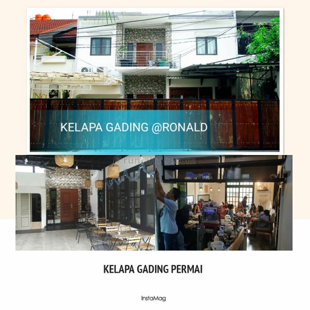 RUMAH CAFE JARANG ADA!!! 2LT FULL GRANIT DI KELAPA GADING SUMMARECON, Kelapa Gading, Jakarta Utara