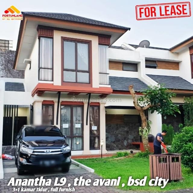 Rumah full furnish siap huni di boulevard cluster anantha, BSD Avani, Tangerang