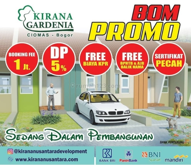Kirana Gardenia Ciomas, Rumah Minimalis Baru di Ciomas Bogor, Ciomas, Bogor