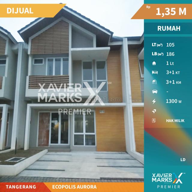 Rumah Ecopolis Aurora Tangerang , Hunian Nyaman , Kawasan Elite, Panongan, Tangerang