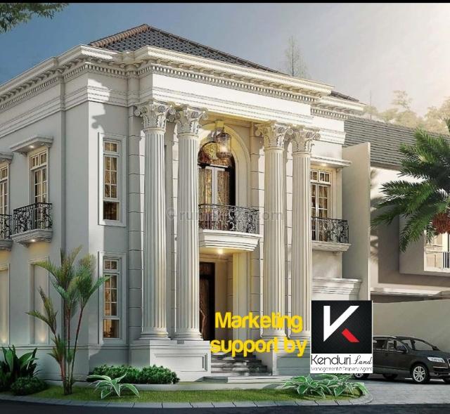 Rumah mewah konsep classic with pool akses 2 mobil dekat tol andara, Jagakarsa, Jakarta Selatan
