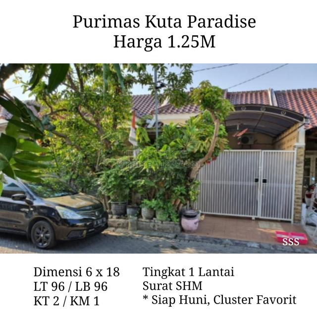 Rumah Purimas Kuta Paradise Rungkut Surabaya Timur Siap Huni bs KPR, Rungkut, Surabaya