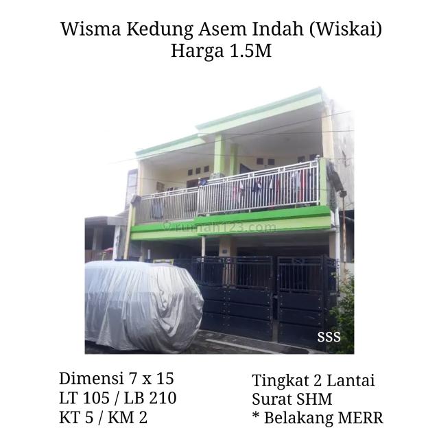 Rumah Wisma Kedung Asem Indah Wiskai Rungkut dkt Merr Siap Huni bs KPR, Rungkut, Surabaya