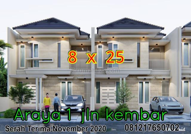 Rumah Baru Bangun Araya Tahap 1 harga 4M-an (192a), Sukolilo, Surabaya