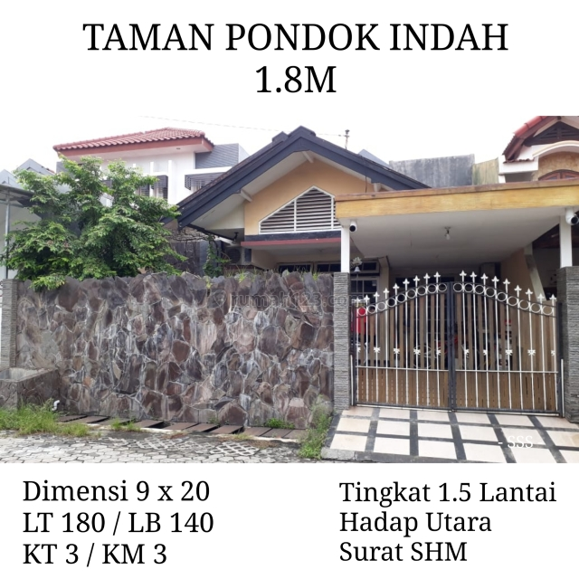 Rumah Taman Pondok Indah Wiyung Surabaya Siap Huni bs KPR Strategis, Wiyung, Surabaya