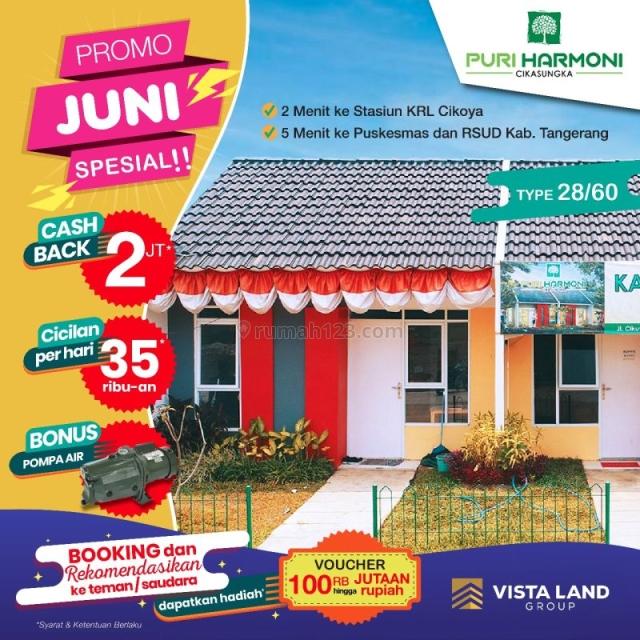Rumah Subsidi, Perumahan Puri Harmoni, Cikasungka, Tangerang MP359, Tigaraksa, Tangerang